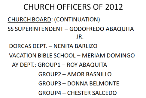 LSDA 2012 Officers-More Church Boards Members