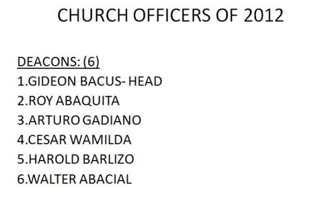 LSDA 2012 Officers-Church Deacons